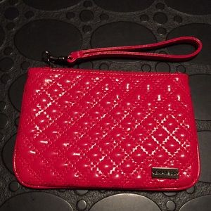 Express Red Patent Leather Quilt Wristlet
